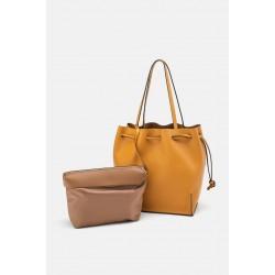 ZARA-sac shopper jaune