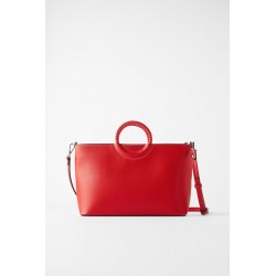 ZARA city bag rouge