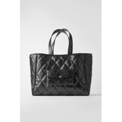 ZARA SAC SHOPPER NOIR A...