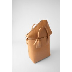 ZARA SHOPPER RIGIDE CAMEL