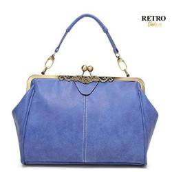 RETRO-VINTAGE Blue Bag