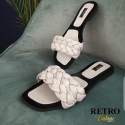 Retro Vintage-Sandale en Cuir